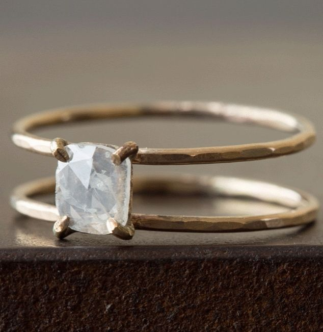 Minimalist Engagement Rings Style Jewelry Rose Cut