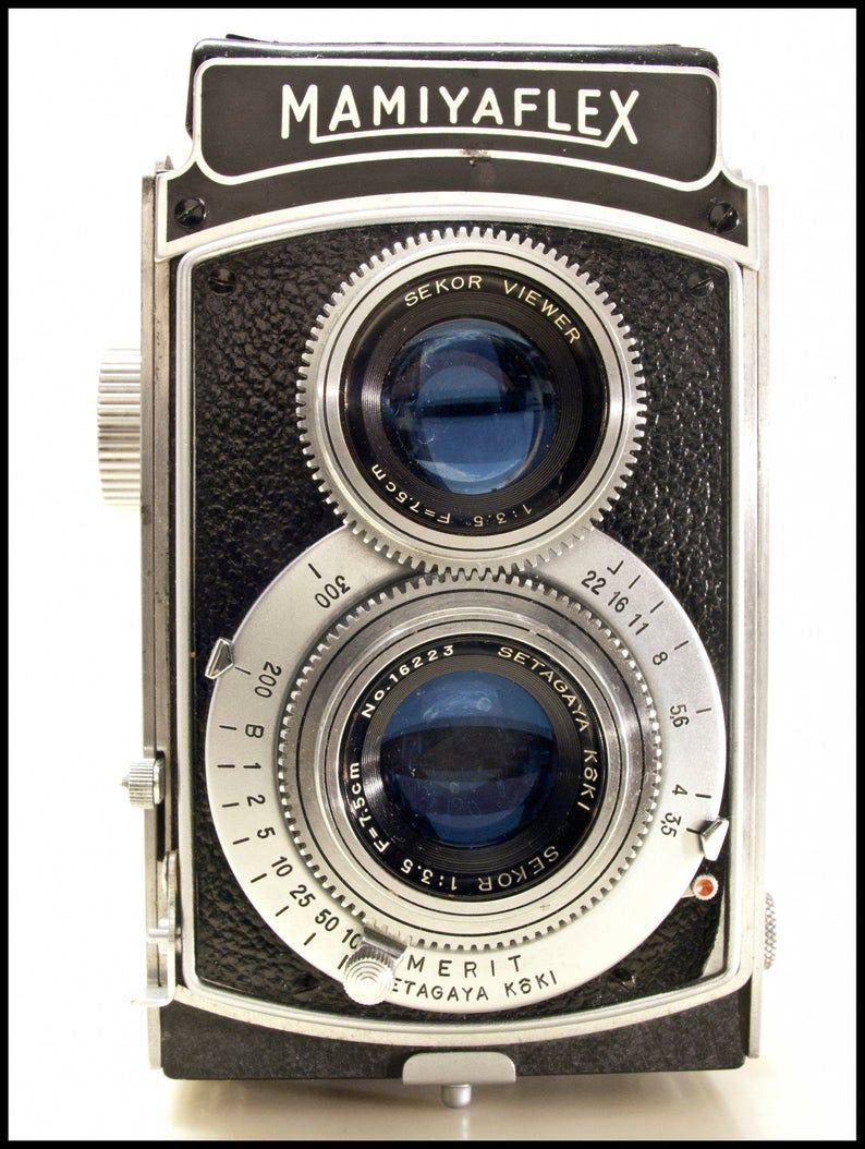 Mamiyaflex Doppelobjektiv-Reflexkamera - Vintage 1950er 120MM Mittelformatfilm TLR 6X6 -2 1/4 X 2 1/4 Quadrat Negativkamera mit kostenlosem Versand -