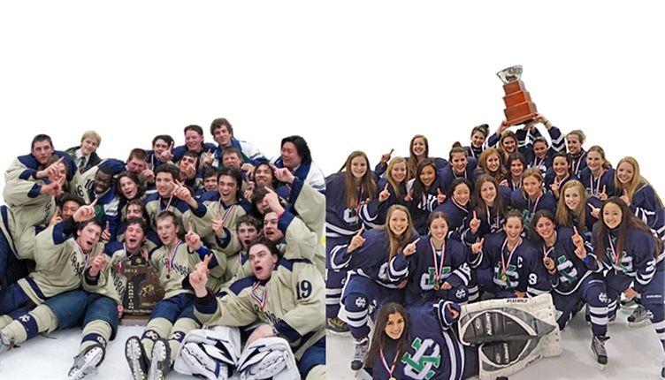 CK boys, girls hockey both state champs again!