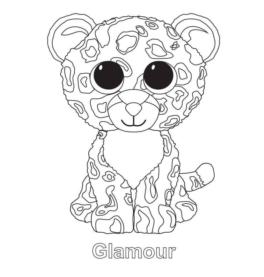 Glamour the Leopard TY Beanie Boo   Beanie boo party   Pinterest ...