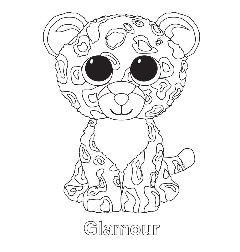 Glamour The Leopard Ty Beanie Boo Beanie Boo Birthdays Pictures Of Beanie Boos Beanie Boo Party