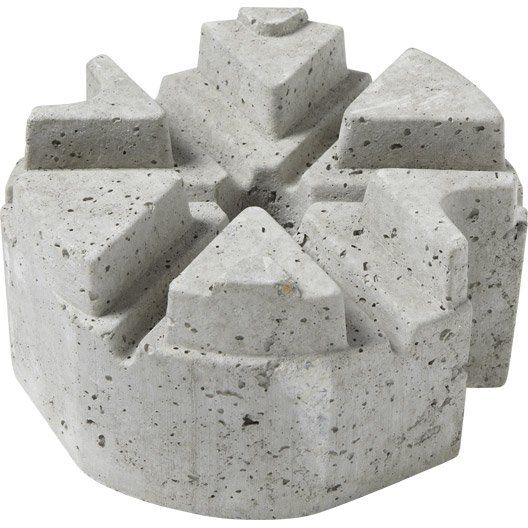 Plot Pour Lambourde Beton H 120 Mm Plot Beton Terrasse Beton Beton Imprime