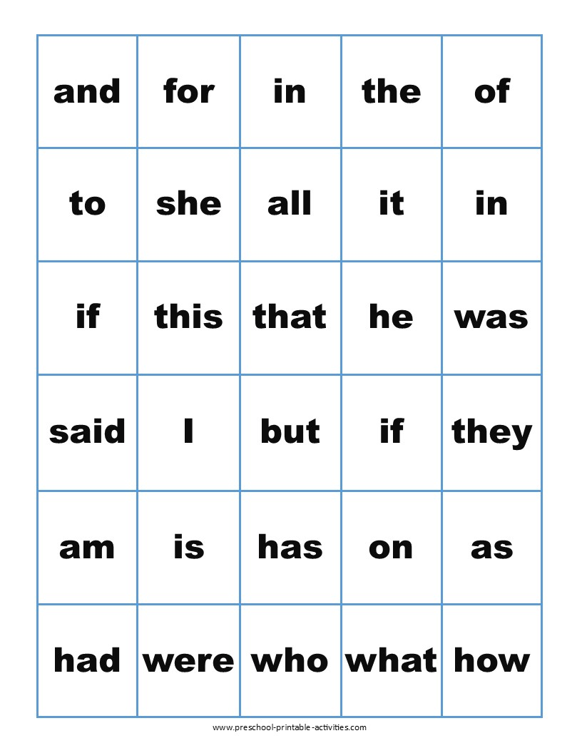 Sight Word Bingo Games in 2020 Sight word bingo, Word