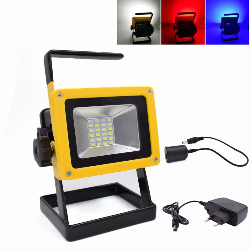 Portable Floodlight Rechargeable Waterproof Ip65 Led Flood Light 10w Camping Lamp 18650 Outdoor Spotlight For Camping Lamp Led Flood Lights Led Flood