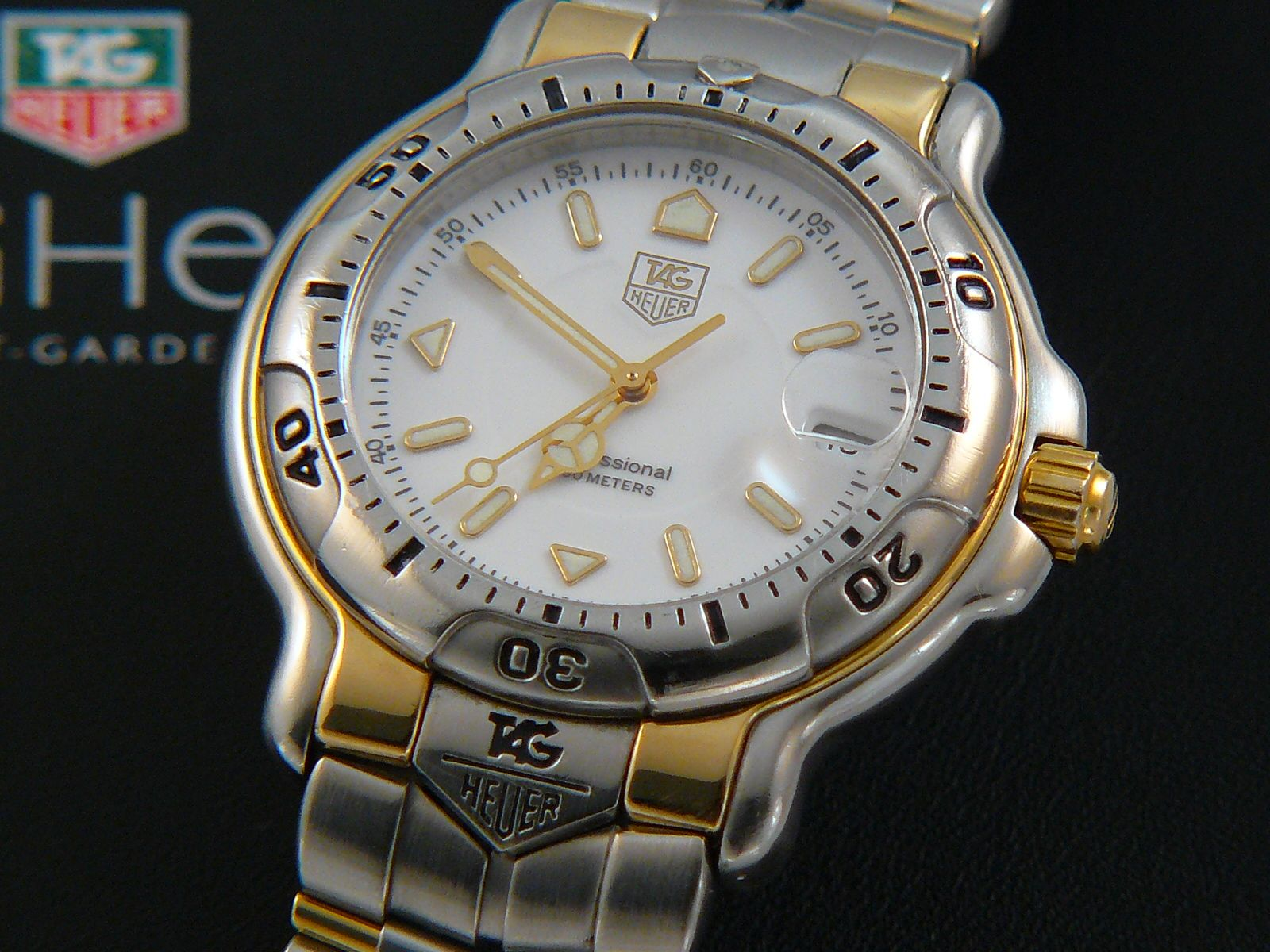 TAG Heuer 6000 Full size Man 18K Gold/ Stainless steel ...
