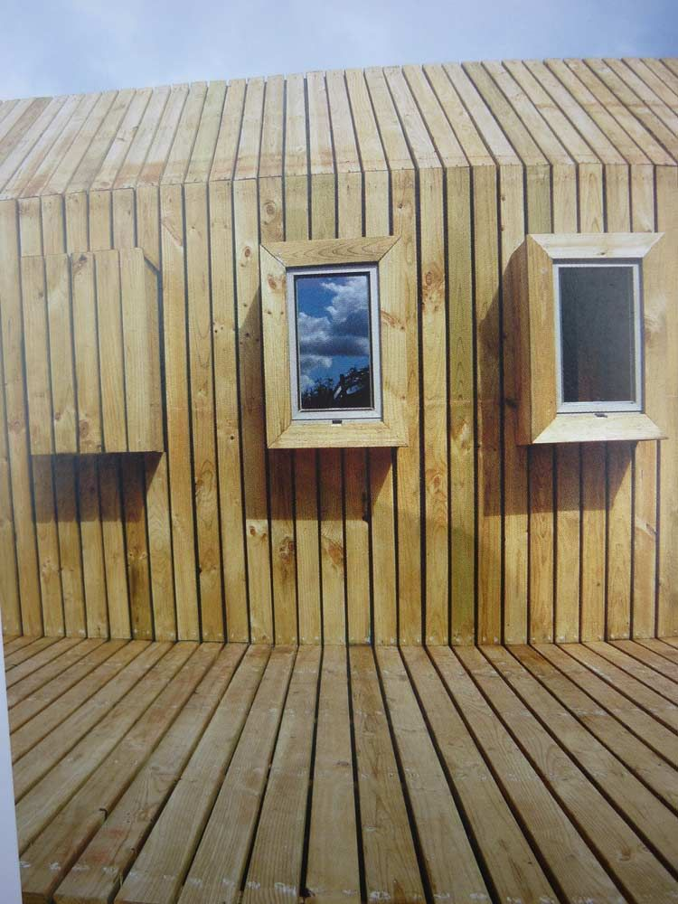 Timber Planks As Roof Covering Seen In A Magazine Elevations