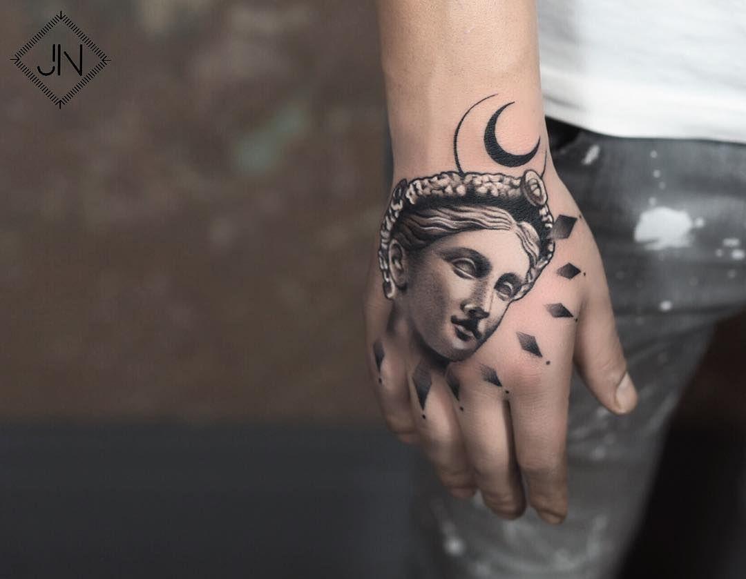 Hand tattoo by jefree naderali tattoos pinterest