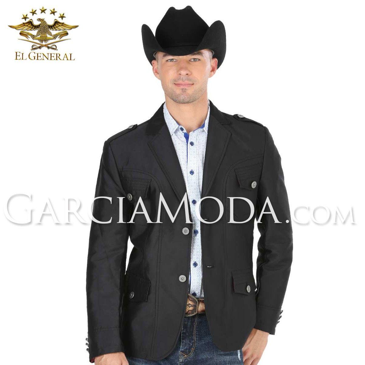 Blazer Fino El General Western Wear 40291 Black Diseño