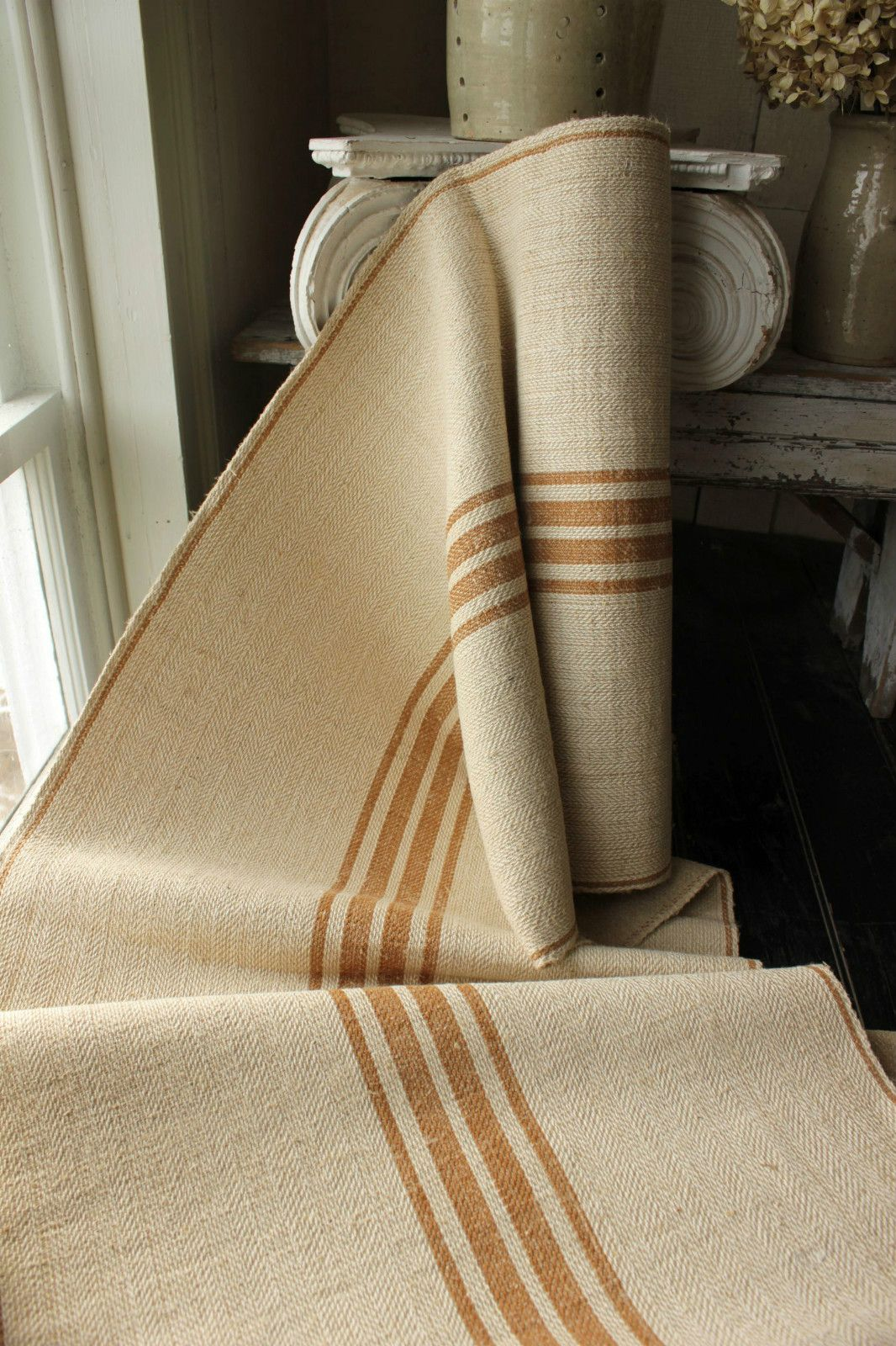 Beau Burlap Stair Runner | Share