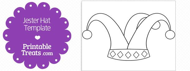 Printable Jester Hat Shape Template Printable Treats Com Shape