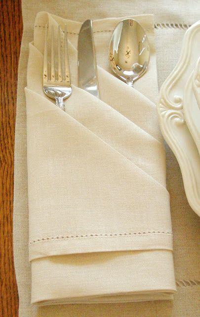How to elegantly fold a dinner napkin with silverware in it The Triple Pocket Napkin Fold Tutorial & Cómo doblar servilletas de forma original u2026 | Pinteresu2026