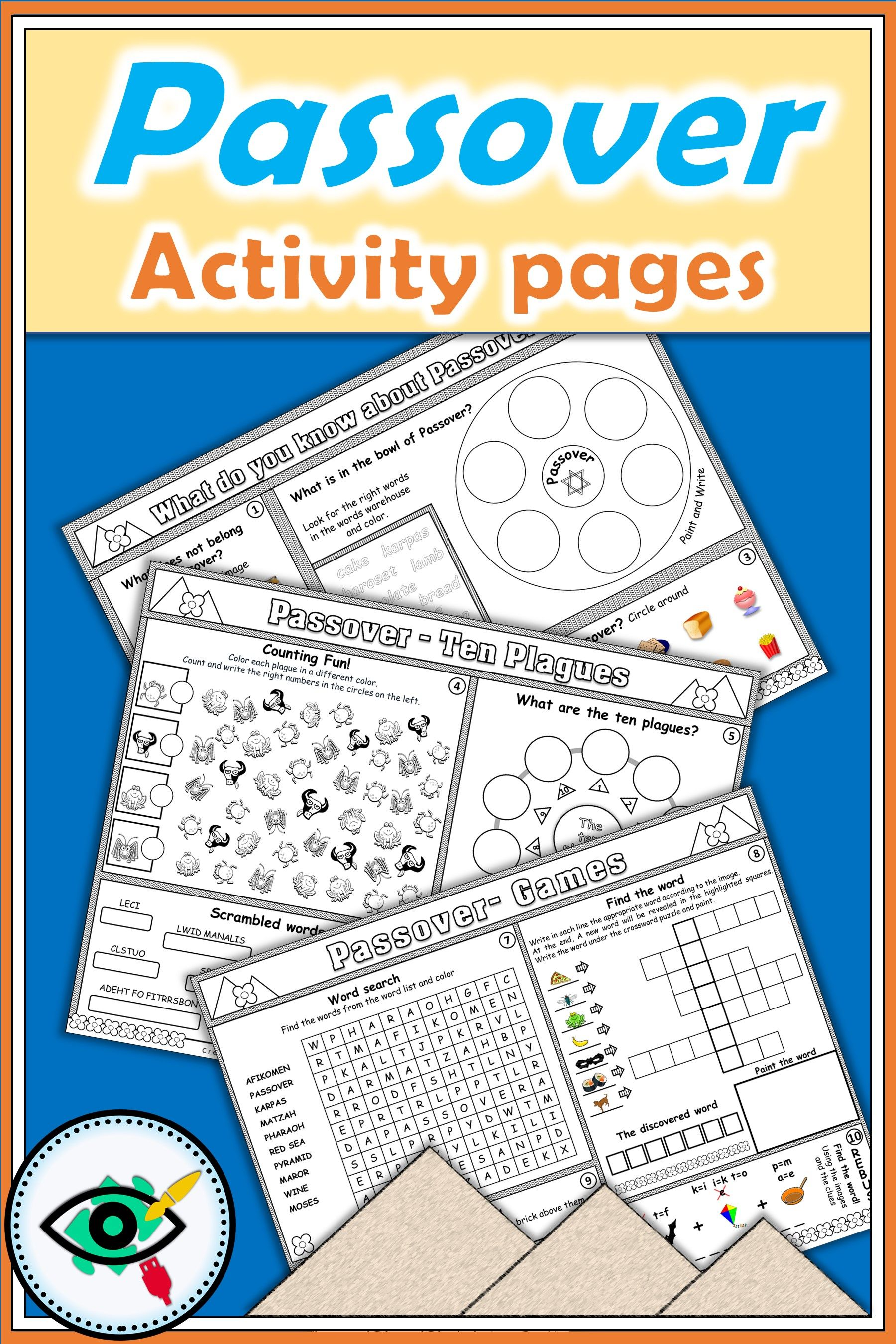 Passover Focus Pages Activities For Primary School Homeschooling Great Activity For The Kids In The Seder Ni Passover Crafts Passover Activities Activities [ 2700 x 1800 Pixel ]