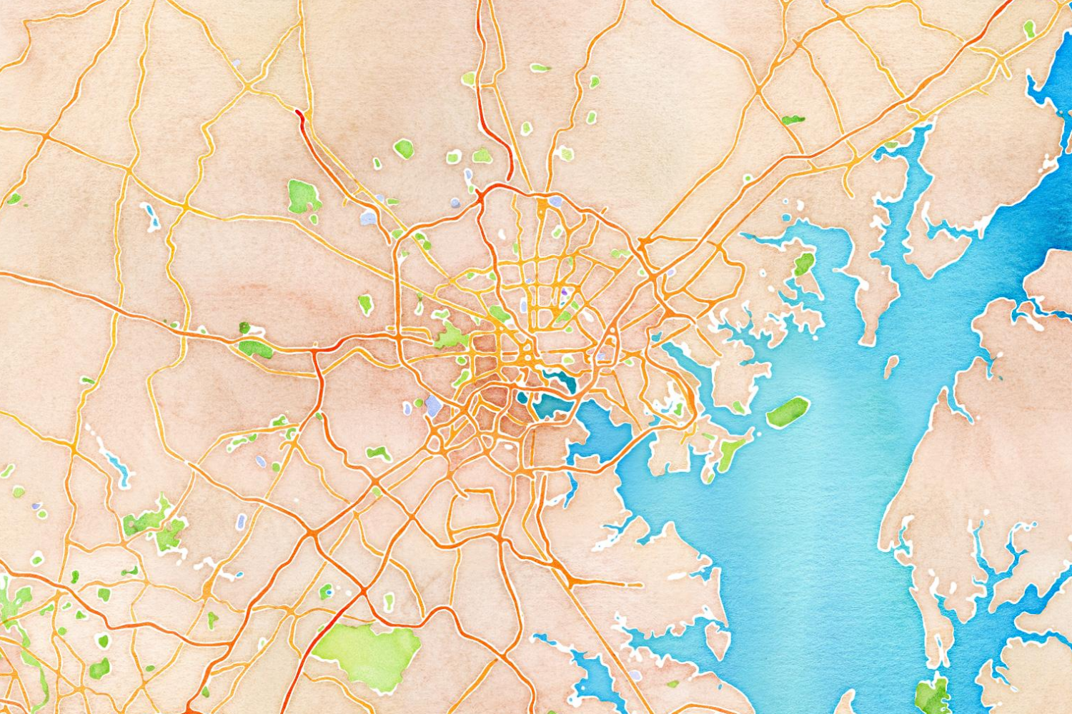 Map Stack | Stamen Design watercolor map of baltimore md | my life ...