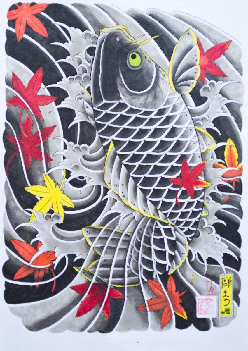 Horimatsu irezumi japanese tattoo japansk tatuering for Japanese koi design