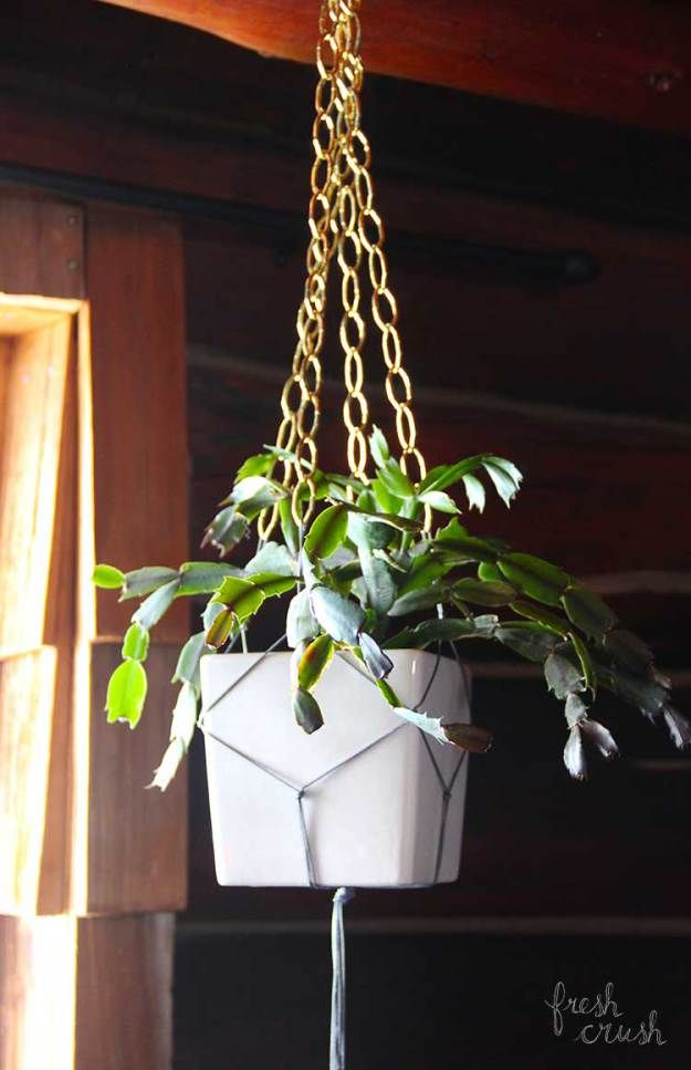 Make Your Own Macrame And Chain Plant Holder Arts Crafts