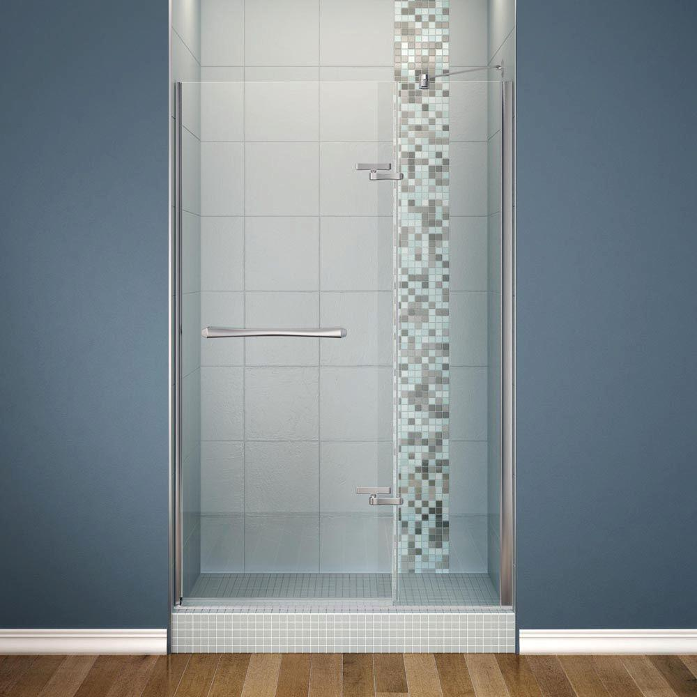 Maax Reveal 48 In X 71 1 2 In Frameless Pivot Shower Door In