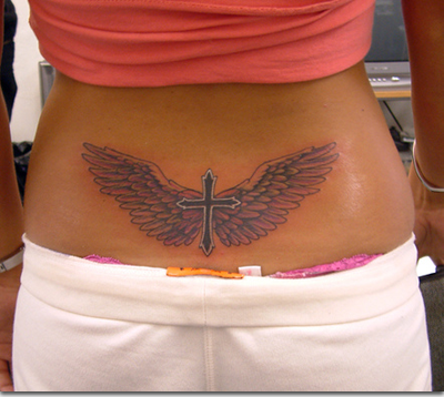Why On Earth Would You Get A Cross Tramp Stamp Oh And Your Thong Is Showing Honey Real Holy