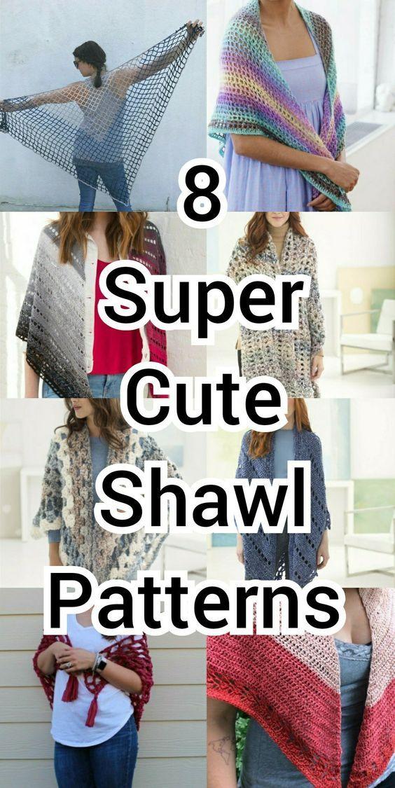 8 Easy Crochet Shawl Patterns Free Crochet Pattern Pinterest