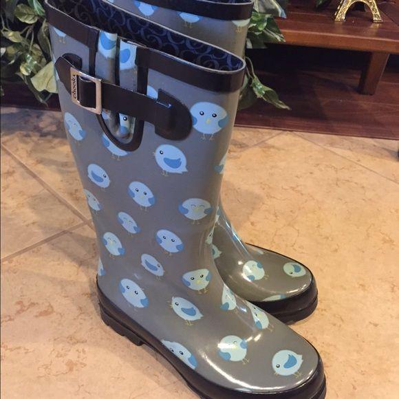 Chooka rain boots Super cute boots for rainy season, blue chicks Shoes Winter & Rain Boots