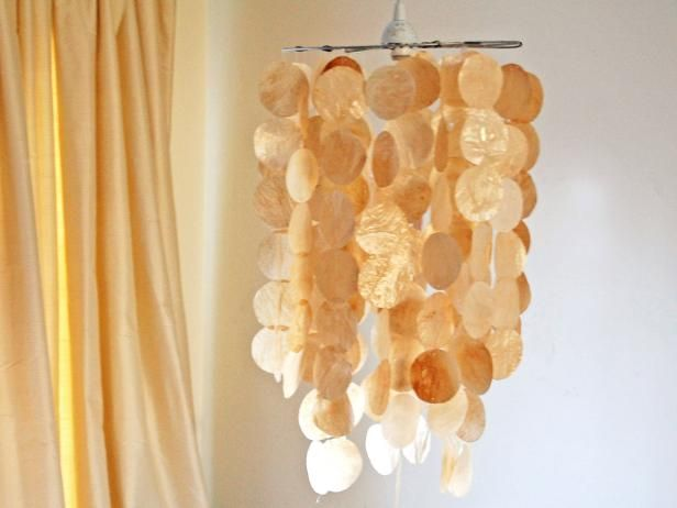Faux capiz shell pendant shell pendant pendant lighting and shell beautiful capiz shell pendants add romance interest and natural beauty to any room with aloadofball Image collections