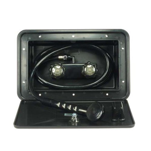Dura Faucet (DF-SA170-BK) RV Exterior Shower Box Kit in Black ...