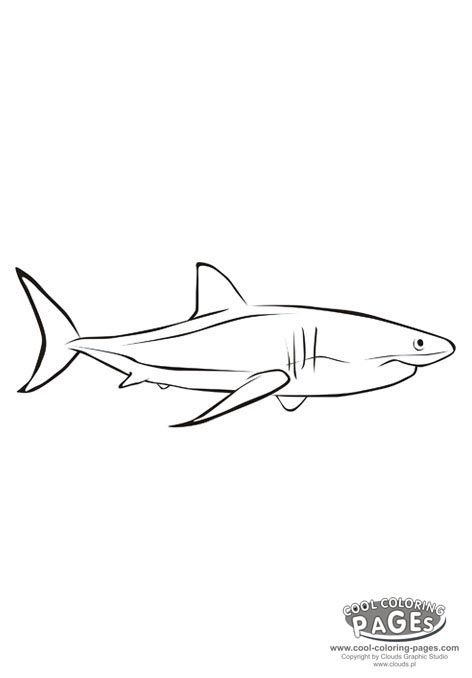 Shark Fish coloring pages craft