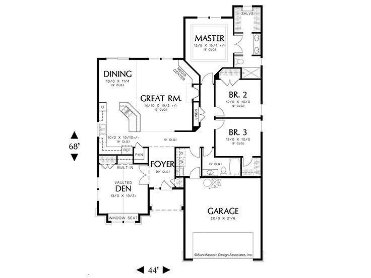 Small Floor Plan Love The Open Living Spaces Cody Will Love The Bedrooms All Together And The Man Den Small Floor Plans Floor Plans House Floor Plans