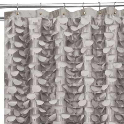 Gigi 72-Inch x 72-Inch Shower Curtain in Grey - BedBathandBeyond.com ...