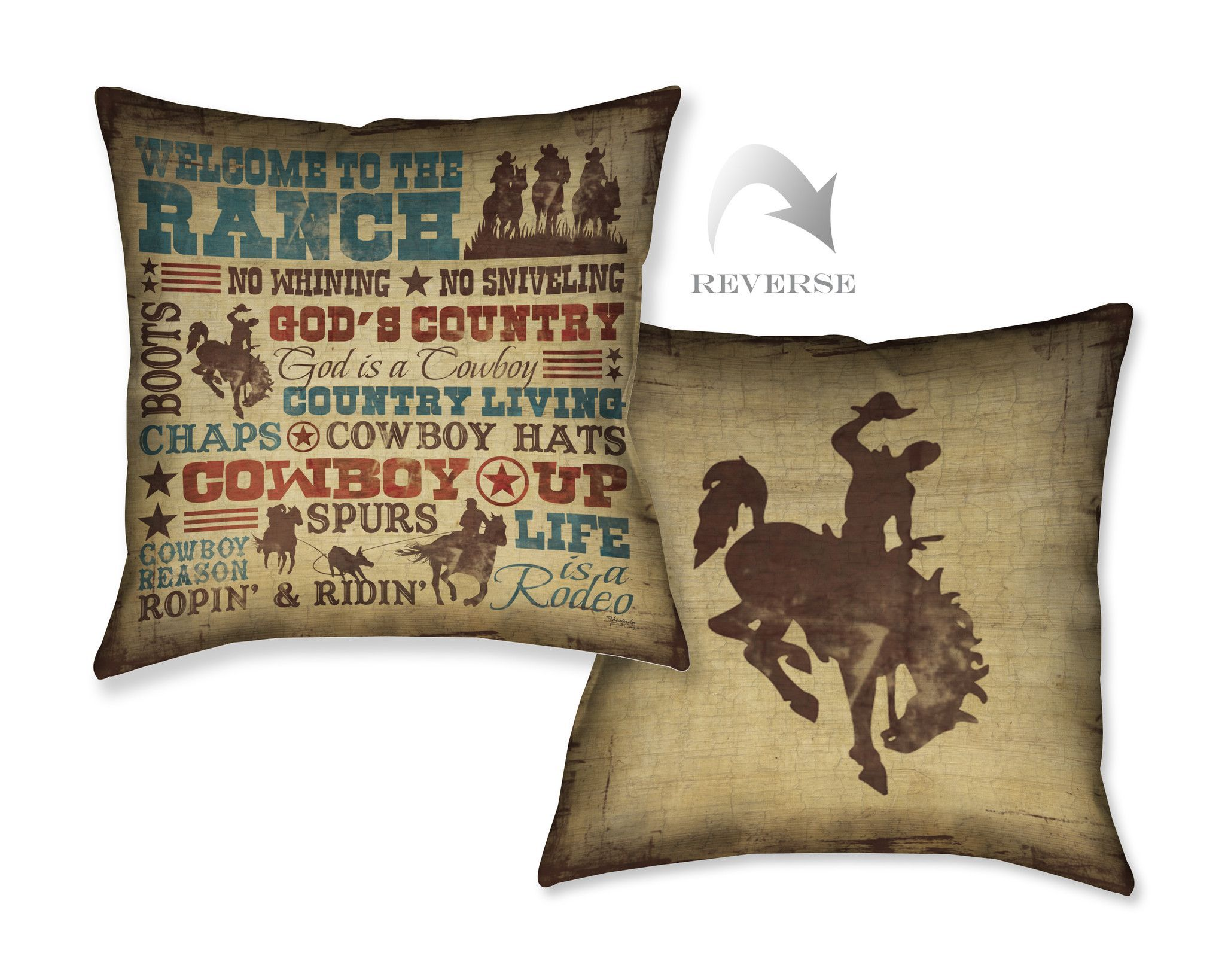 Welcome to the Ranch Indoor Decorative Pillow | Ranch, Pillows and ...