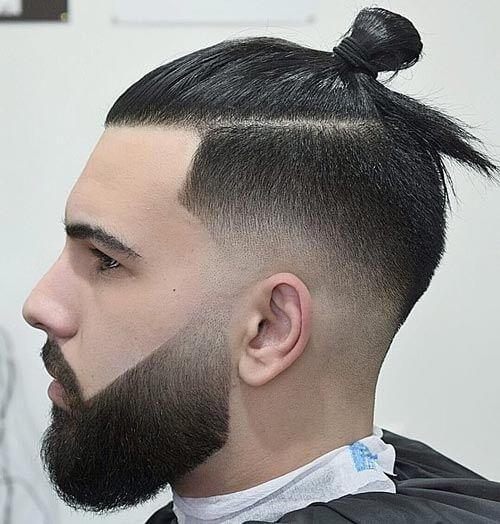 Man Bun Undercut with Fades , Low Fade Haircut