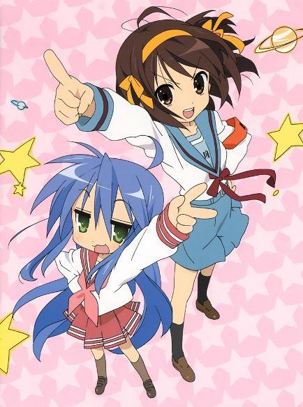 Lucky Star and The Melancholy Of Haruhi Suzumiya!