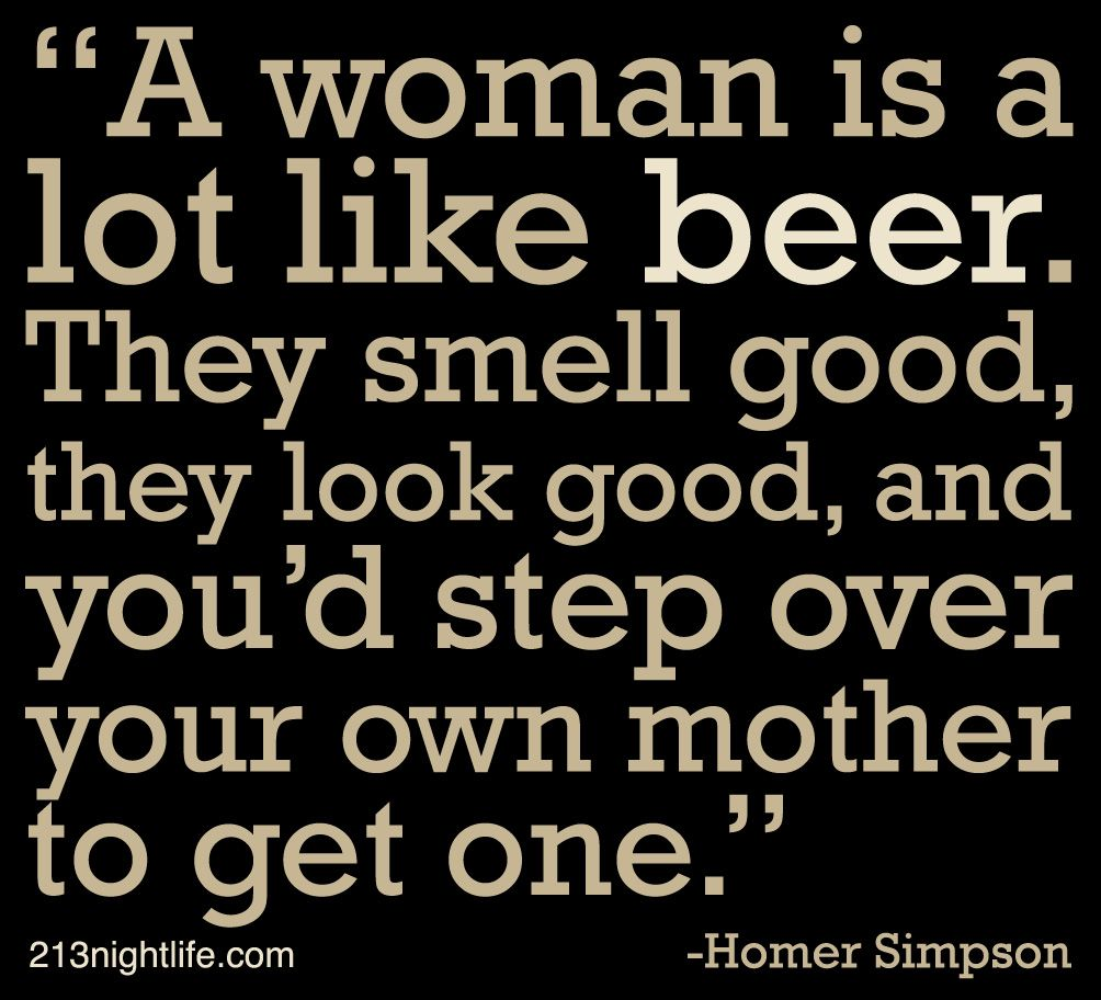 Homer Simpson Beer Quotes