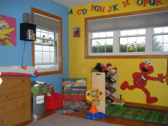 This Is An Idea For A Sesame Street Room Makeover For A Boy S Room That Came From Hgtv Rate My Space Sh Sesame Street Bedroom Sesame Street Room Sesame Street