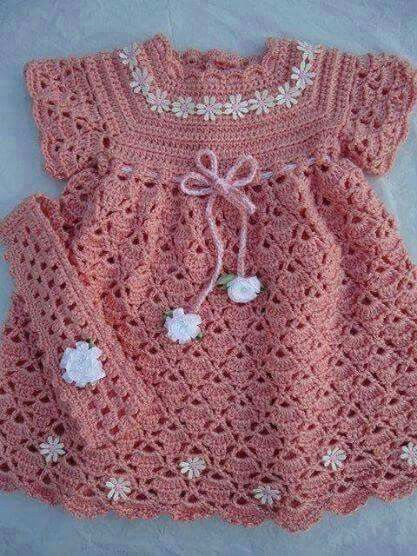 Pin By Aida Villalobos On Vestidos Crochet Bebe Pinterest
