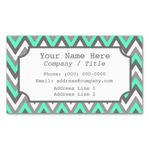 Blue Gray Chevron Label Business Card Zazzle Com Card Template Colorful Business Card Cards