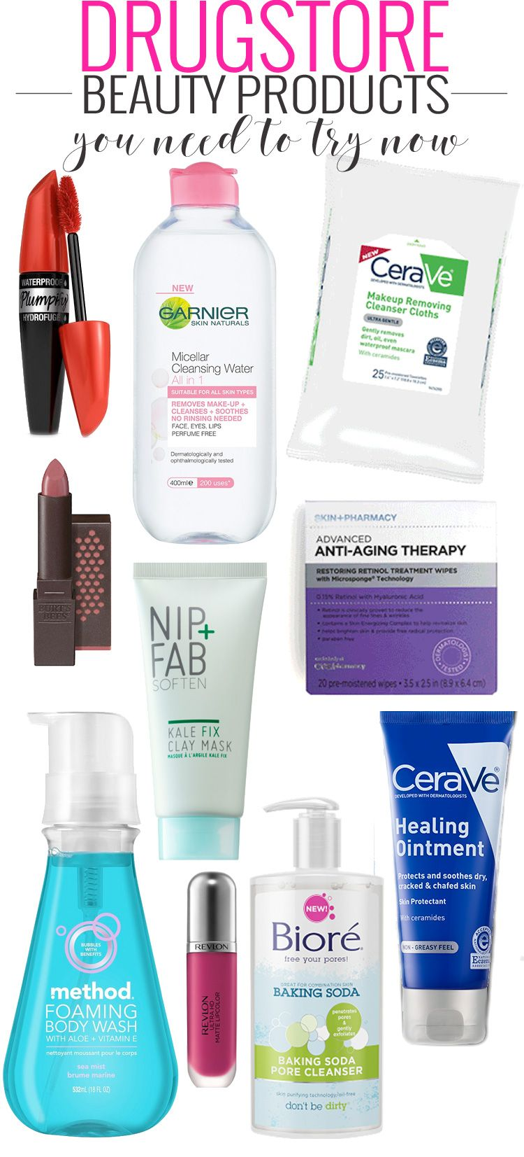 The 10 Drugstore Beauty Products You Need to Try NOW.