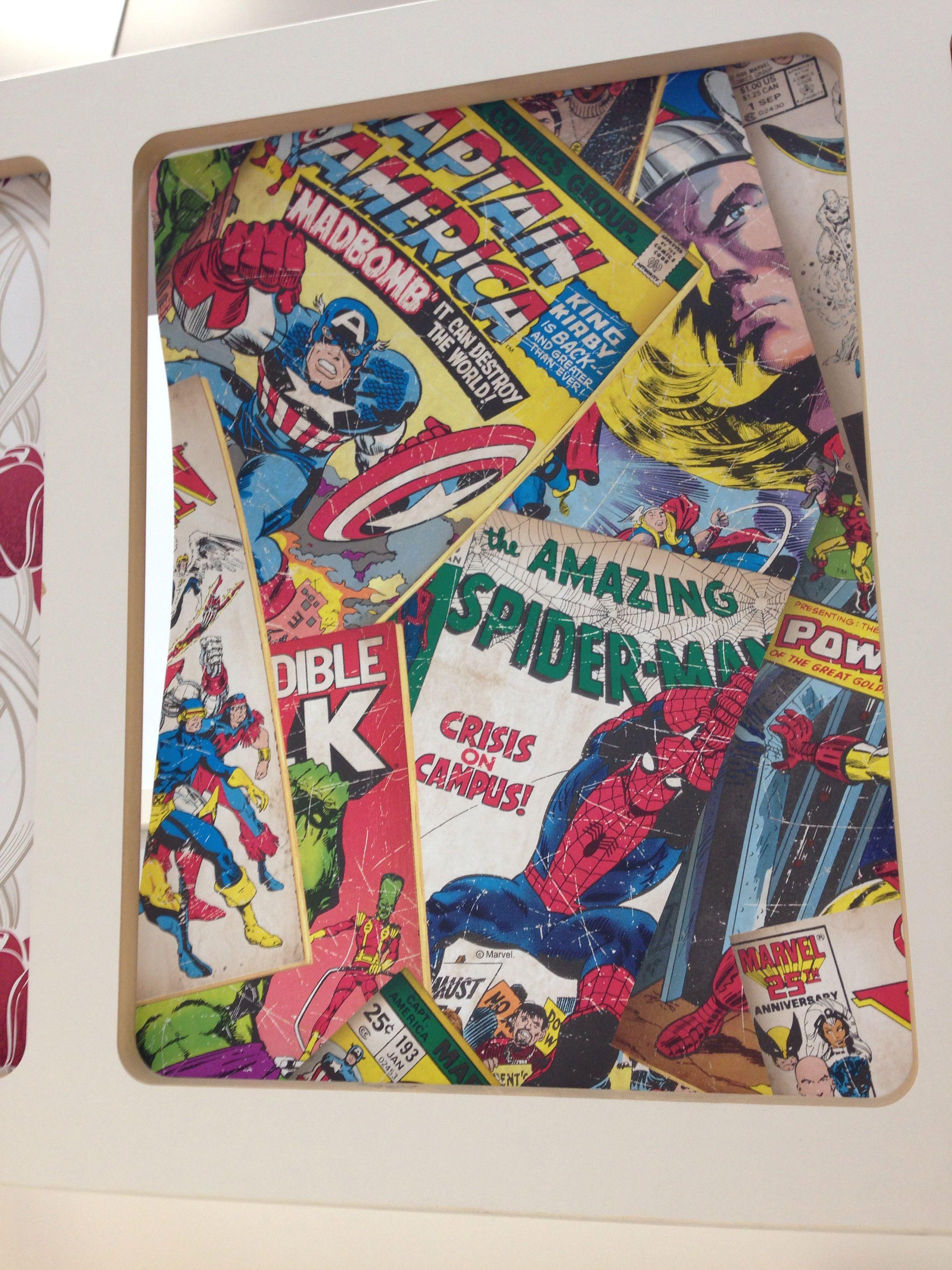 Marvel wallpaper b&q