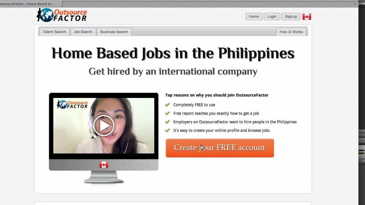 Start posting your free resume at http://outsourcefactor.com and ...