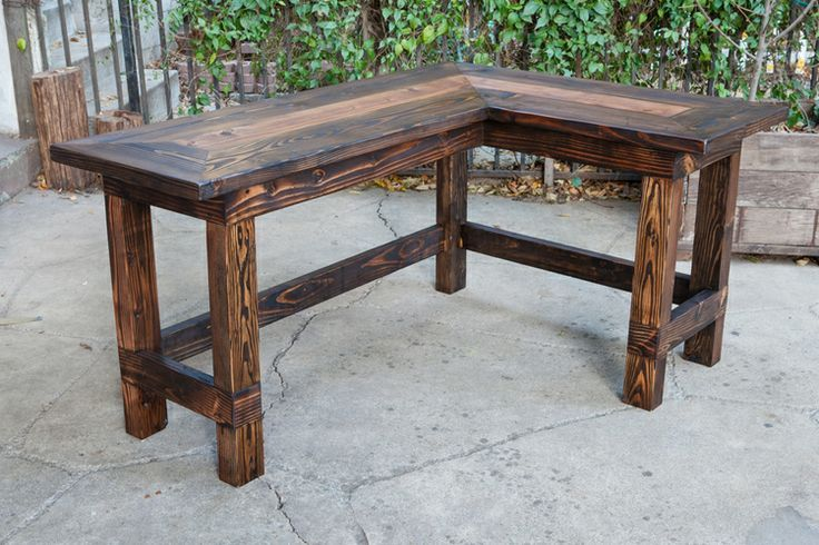 Amusing Rustic Office Desk Wow This Would Look Great In An L Shaped From