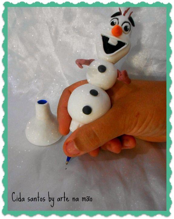 Caneta Olaf  (detalhe)