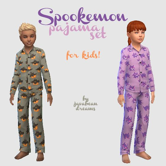 Spookemon Pajama Set - for kids!Well yesterday got a little busier than I thought it would, so these didn't get done as soon as I hoped, but… you know… I'm still a month and a half early for Halloween...