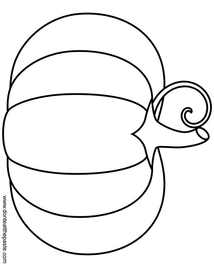 A simple pumpkin coloring page in jpg and transparent PNG format ...