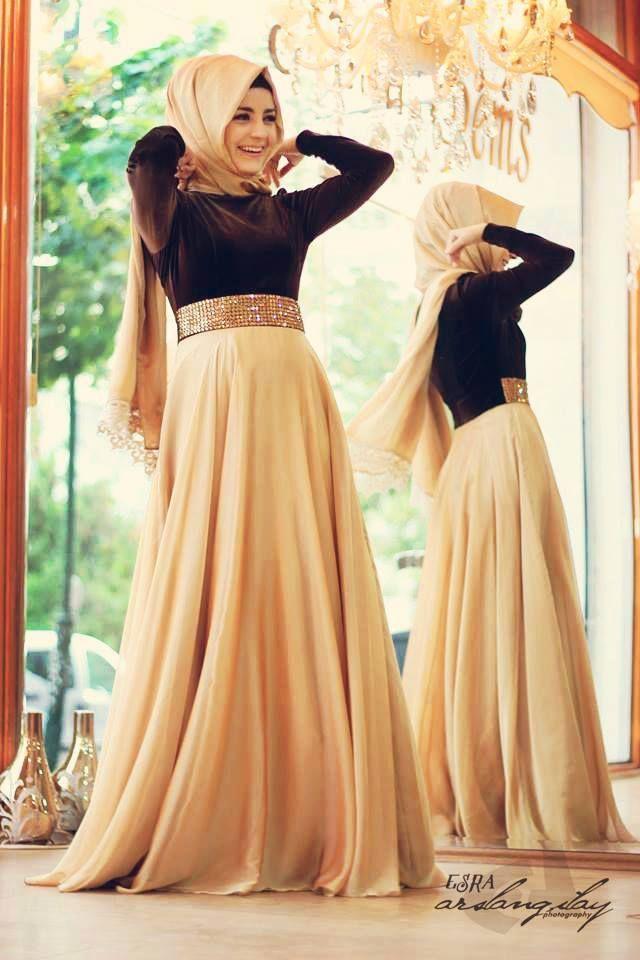 e3765d5aab9 Hijab Maxi Style- 20 Cute Ways To Wear Hijab With Maxi Dress ...
