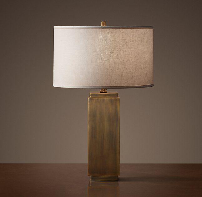 Square Column Accent Lamp Vintage Table Lamp Square Columns Lamp