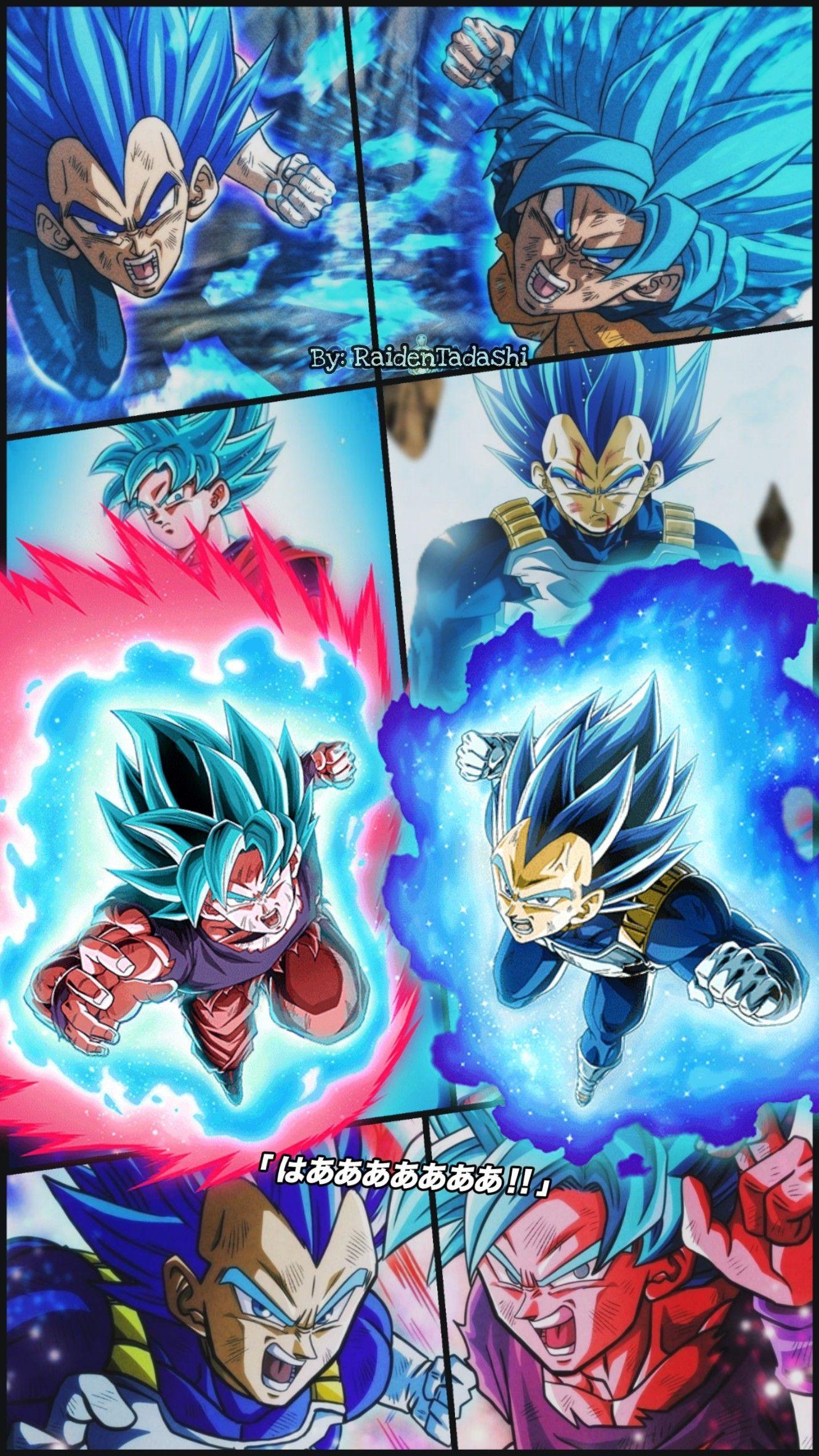 Goku Vegeta Wallpaper By Raidentadashi Anime Dragon Ball Super Dragon Ball Art Dragon Ball Super Goku