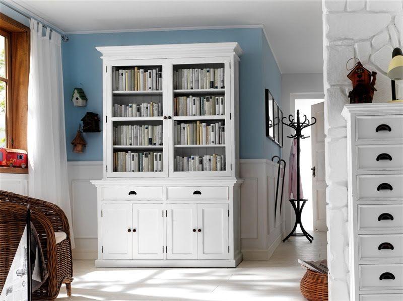 sfeervolle witte houten boekenkast bij meubelen onlinenl httpswww