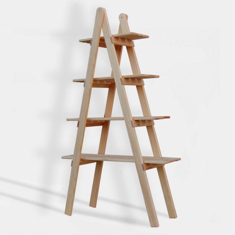 Cajonera kit escalera decorativa grande de madera de pino b ltico en crudo cosas que comprar - Escaleras de madera decorativas ...
