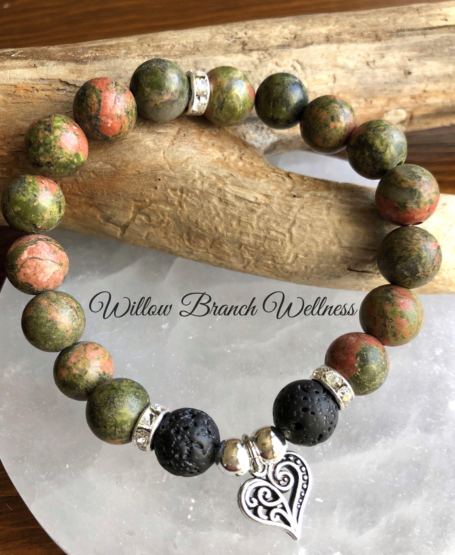 Healing bracelet anxiety Stress relief bracelet Good energy bracelets Chacra reiki healing heart bracelet Energy infused bracelets