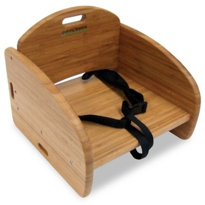 Growing Up Green Bamboo Booster Seat Wood Bamboo Baby Bamboo Baby Furniture