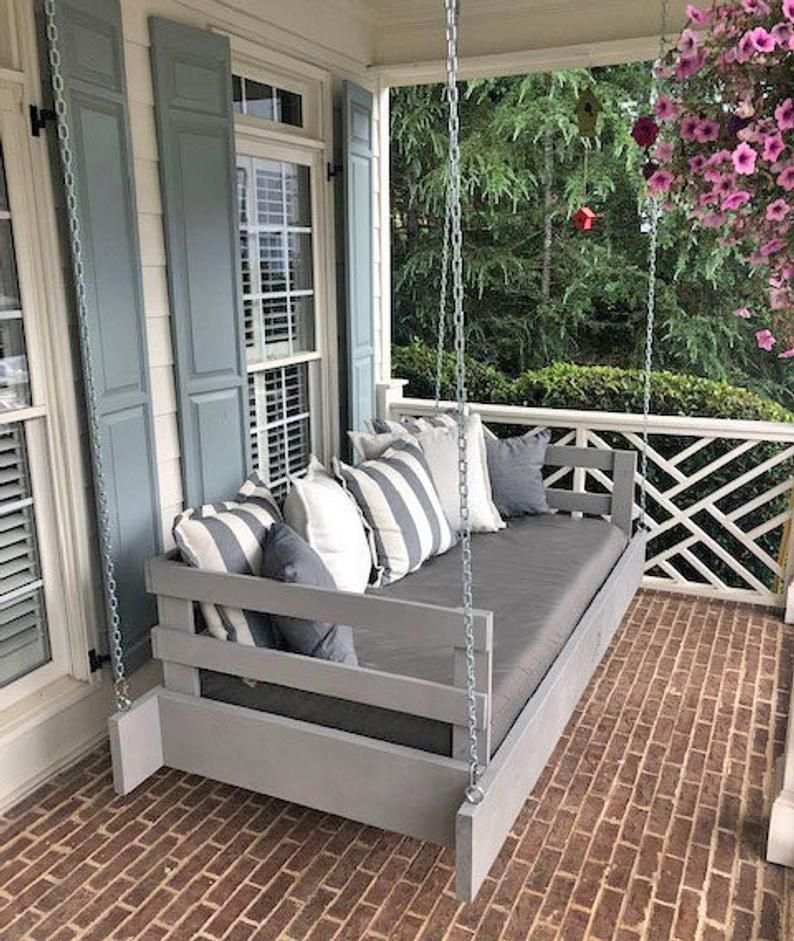 Custom Sunbrella Daybed Cover Outdoor Fabric Mattress Etsy Porch Swing Outdoor Mattress Daybed Cushion
